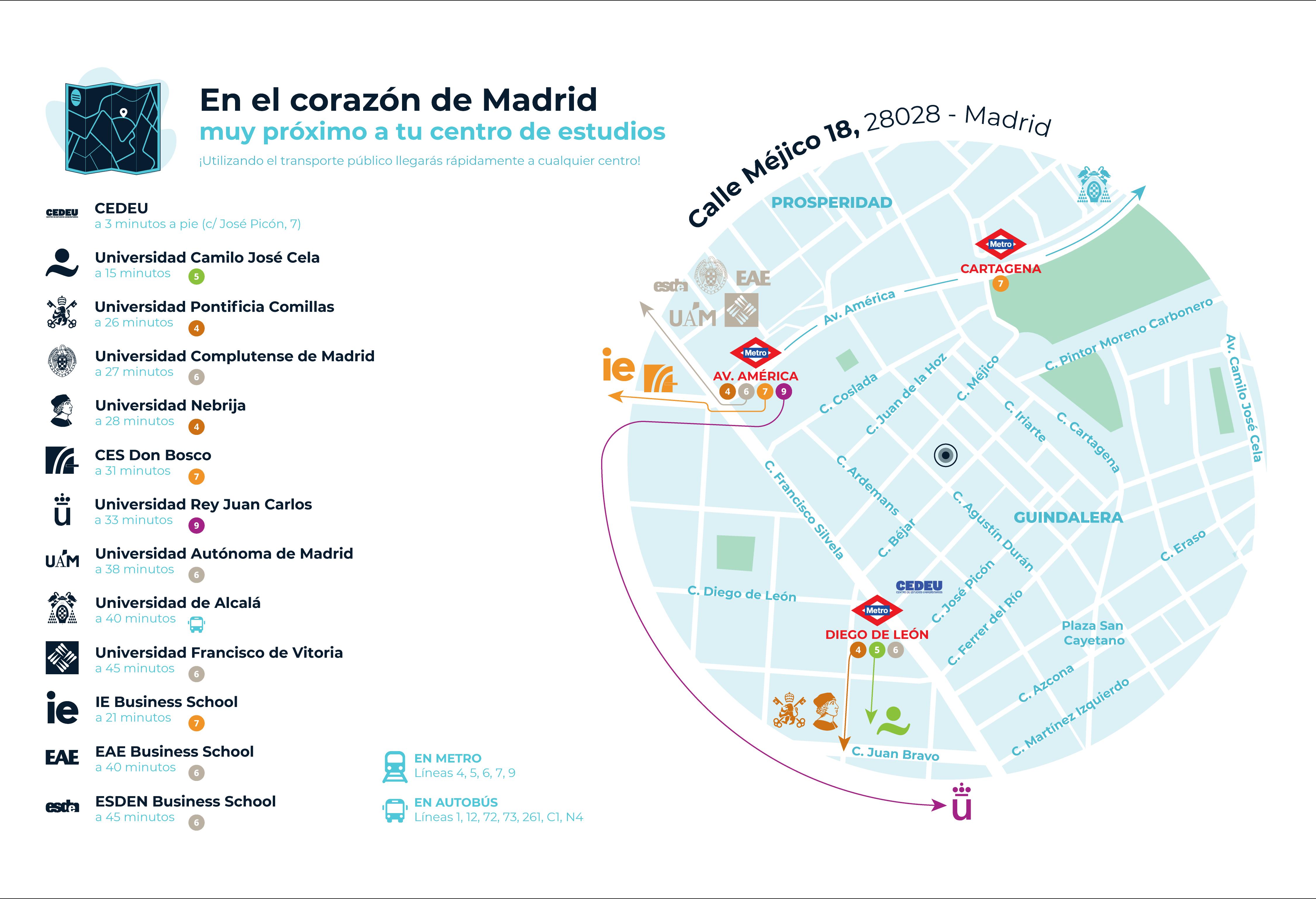 mapa de localización de residencia Trilema Tomás Moro